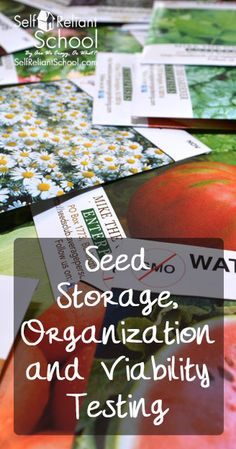 How to set up your seed storage, organize them, and test for viability. #beselfreliant