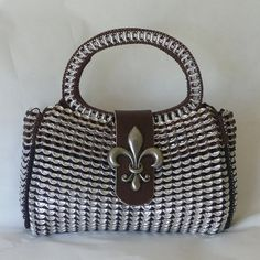 Pop Tab Purse  Fleur De Lis by DianeKDesigns on Etsy, $259.99