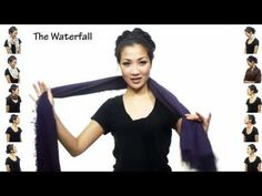 great video. 25 ways to wear a scarf