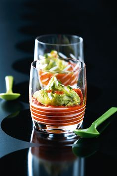 Avocado, Bell Pepper and Tomato Paste Cocktail Salad