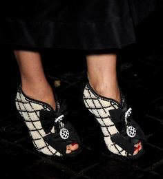 ankle boots Chanel.  GETTY
