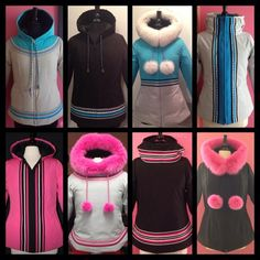 I like the white and pink furred one. Maybe I can copy for Christmas ornament gift. Native American Clothing, Native American Fashion, Inuit Clothing, Kids Outfits, Cool Outfits, Native Design, Beading Patterns Free, Winter Wear, Pattern Fashion