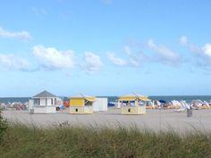 Shelborne Wyndham Grand South Beach in Miami Beach, FL. Custom design/build beach equipment by CustomBeachHuts.com