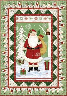 Red Rooster Quilts: Shop | Category: Patterns - Download for FREE | Product: Woodland Christmas Downloadable Panel Quilt Pattern