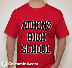 AHS shirt i designed...I WANT THIS! (: ahs & hawk on front & last name  year & AHS on back  -Designed Online at CustomInk.com