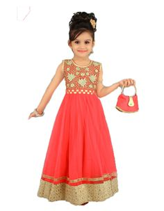 Girls party wear   - Free shipping within India - Rs 2225 -- http://www.princenprincess.in/index.php/home/product/269/Pink%20ball%20gown
