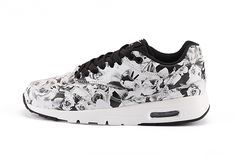 finest selection bb468 0efa5 Nike Air Max 1 Ultra Femmes New York Ville Pack Roses   Lilies Floral  Formateurs Blanc Noir 747105-001