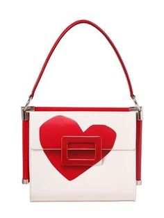 Roger Vivier small Miss Vive heart patent leather bag Roger Vivier, White Pleated Skirt, Flats, Girls Bags, Luxury Shop, Animal Jewelry, Flower Fashion, Girls Night Out, Bridal Shoes