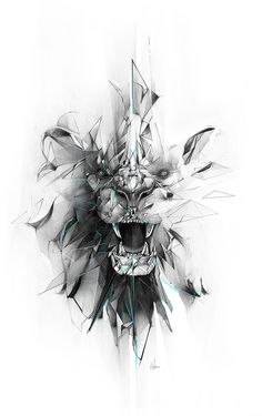 Broken grey geometric lion face tattoo design geometric tattoo special mental symbol of power for denis barcelona if you want tattoo write m barcelona denis geometric mental power special symbol tattoo write Tattoo Drawings, Body Art Tattoos, New Tattoos, Lion Tattoos For Men, Tatoos, Full Neck Tattoos, Leg Band Tattoos, Gemini Tattoos, Gemini Tattoo Designs