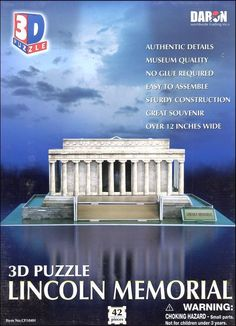 Lincoln Memorial 3-D Puzzle | Main photo (Cover)