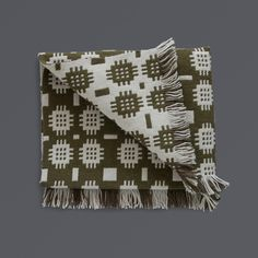 LABOUR AND WAIT   Welsh Floor Rug Olive