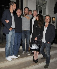 "Logan Marshall-Green, Josef Fassbender (daddy), Fassy, Gianina Facio (Scott's partner), Ridley Scott, Noomi Rapace and Guy Pearce at London ""Prometheus"" premiere after-party"