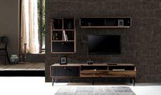 Sır Tv-eenheid – Tv Üniteleri – Tv Unit – Tv Units Welcome Home Tv Wall Design, Tv Unit Design, Tv Unit Furniture, Furniture Design, Living Room Inspiration, Living Room Designs, Decoration, Bedroom Decor, Diy Home Decor