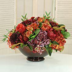 Fall Decorating Idea 6 Mixed Garden Centerpiece From Winward Home Finest Permanent Botanicals