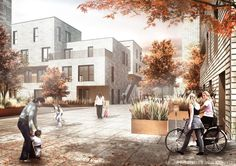 Designed by JAJA,ONV in Copenhagen,Denmark ONV Arkitekter and JAJA Architects recently won the 4th delivery of the affordable housing concept AlmenBolig+ in col...