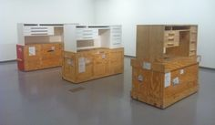 Simon Starling, 'Three White Desks' (2006-9 )