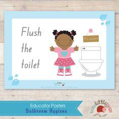 Bathroom Hygiene Signs Automatic By Busylittlebugs 6 95
