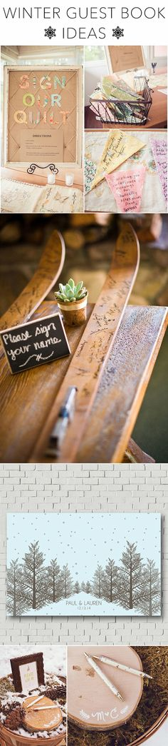 These creative, seasonal-inspired ideas will have your guests clamoring to sign in | Brides.com