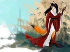 Мистическая Кицунэ. Образ лисы в японском искусстве и мифологии.