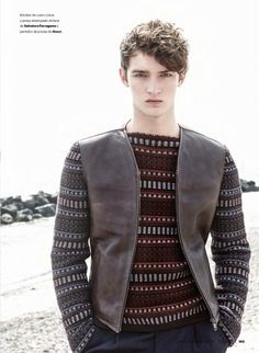 "Danish Model Otto Lotz in ""Grenen Bohemians"" by Nacho Pinedo for the November 2014 Issue of Esquire Spain"