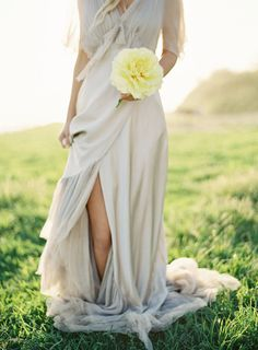 Beautiful flowing dress.