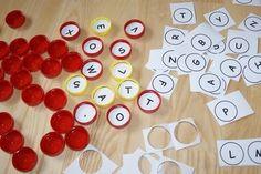 Alfabet z nakrętek. Alphabet of caps from bottles. diy