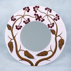 dot painted circular mirror
