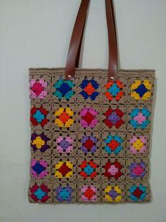 Crochet Crafts, Crochet Projects, Knit Crochet, Crochet Baby Sandals, Diy Scarf, Crochet World, Crochet Handbags, Crochet Squares, Knitted Bags