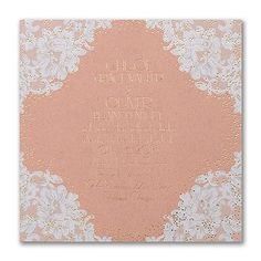 Lacy Glam - Invitation - Kraft     | 40% OFF |  http://mediaplus.carlsoncraft.com/Wedding/Wedding-Invitations/3283-LL36010KR-Lacy-Glam--Invitation--Kraft.pro?pvc=&qty=0