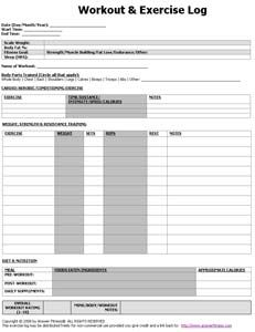 here s the best free workout log template to track your workouts
