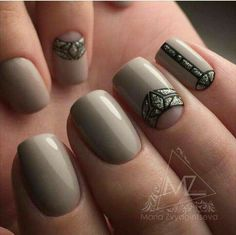 Here you can see the wonderful casual manicure. Delicate pastel hue of nail polish is chosen for the work very . Love Nails, Fun Nails, Pretty Nails, Nail Art Design Gallery, Best Nail Art Designs, Nail Art Pictures, Nail Photos, Nailart, Romantic Nails