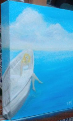 La aburrida, pintura en óleo sobre lienzo.