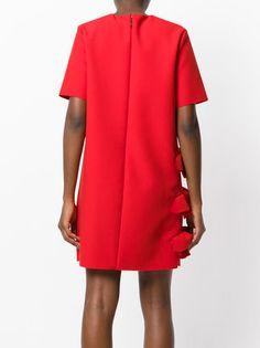 MSGM платье с отделкой из рюшей