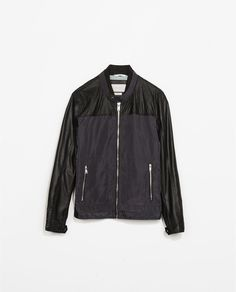 FAUX LEATHER COMBINATION JACKET from Zara