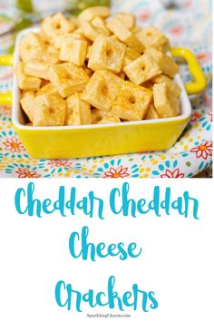 Cheddar Cheddar Cheese Crackers BANG The perfect binge watch food the perfect go to snack Easy to make YUMM So Delicious These little bite sized goodies will make your socks roll up and down A Food, Good Food, Yummy Food, White Cheddar Cheese, Little Bites, Easy Snacks, Bite Size, Cheese Recipes, Homemade Gifts