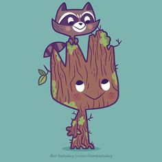 Groot and Rocket by Matt Kaufenberg