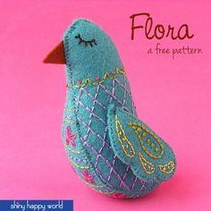 Little Bird Easy Embroidery Pattern
