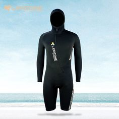 Neoprene Wetsuit Snorkeling Surf Mergulho One piece Full Body Jumpsuits Diving Sport Short Pants Wetsuits With Hood For Men
