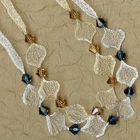 Our Swarovski Mesh Necklace Kits start with our Italian Mesh Ribbon to create a wire lace feel combined with Swarovski crystals