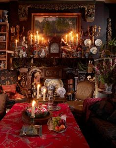 If you want to create a Victorian living room, you must be very particular about ornate designs. And don& be shy when selecting hues to create a Victorian living room. Victorian Living Room, Victorian Interiors, Victorian Decor, Victorian Homes, Victorian Fashion, Victorian Tapestries, Victorian Fireplace, Victorian Design, House Interiors