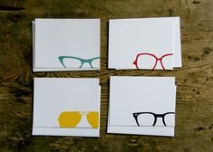 eyewear note cards - red bird ink... i think theses designs could be cute wall art