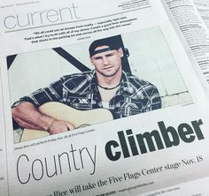 #ChaseRice is in the current section of today's @tleegraphherald. Have you gotten your tickets yet? #Dubuque #TelegraphHerald #Iowa #Country