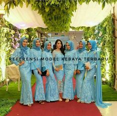 Thanks for ur inspiration Kebaya Hijab, Kebaya Dress, Kebaya Muslim, Kebaya Brokat, Dress Brukat, Hijab Style Dress, Batik Dress, Bridesmaid Outfit, Wedding Bridesmaid Dresses