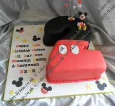 mickey mouse number 1 cakes | Mickey Mouse Number 2 Cake