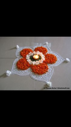 in this rangoli, i am going to show you, how you can do rangoli with diya. this rangoli is special for diwali. this rangoli is instant .