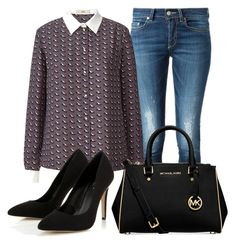 """""""Sem título #4141"""" by ana-sheeran-styles ❤ liked on Polyvore featuring Dondup, Orla Kiely, Lipsy and Michael Kors"""
