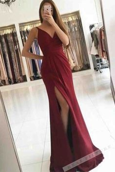 Handmade+item Materials:+Chiffon,Satin Made+to+order Color:Refer+to+image Processing+time:15-25+business+days Delivery+date:5-10+business+days Dress+code:E0118A Fabric:+Chiffon,Satins Embellishment:+None Straps:+With+straps Sleeves:+Sleevless Silhouette:Floor-length Neckline:V+n...