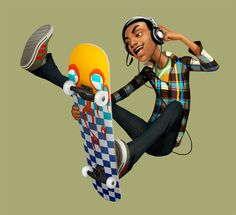 Teen with Skate #teen #skate #character ★ Find more at http://www.pinterest.com/competing/