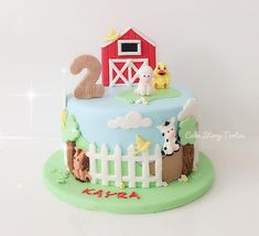 Cute Farm Animals Cake by Cake Story Torten.<br> Our Farm Animals mould gives you not one but FIVE cute, detailed figures! Pig, Cow, Lamb, Horse and a Chick! Designed by Alice. Boys 1st Birthday Cake, Animal Birthday Cakes, Farm Animal Birthday, Farm Animal Cakes, Farm Animals, Barnyard Cake, Barn Cake, Cake Story, Karen Davies
