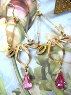 WHOLESALE LOTS JEWELRY ARTISAN EARRINGS ART NOUVEAU EARRINGS LOT